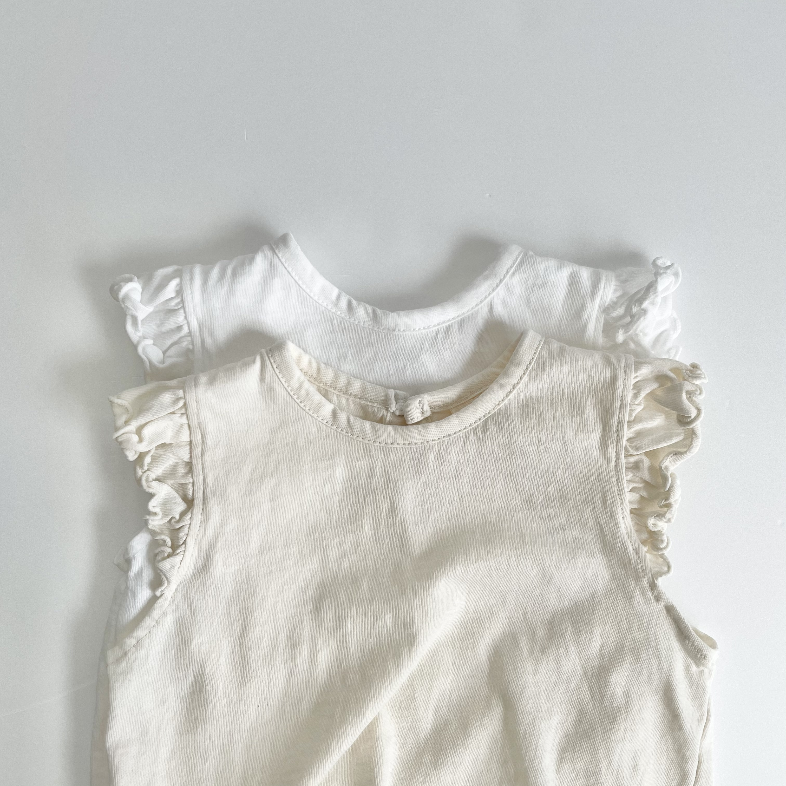 NO.1335. shoulder  frill T ( baby size )