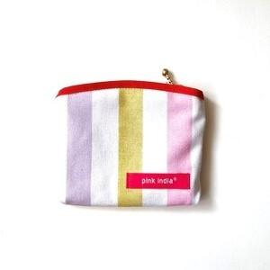 北欧デザイン ティッシュケース付ポーチ   pastel stripe