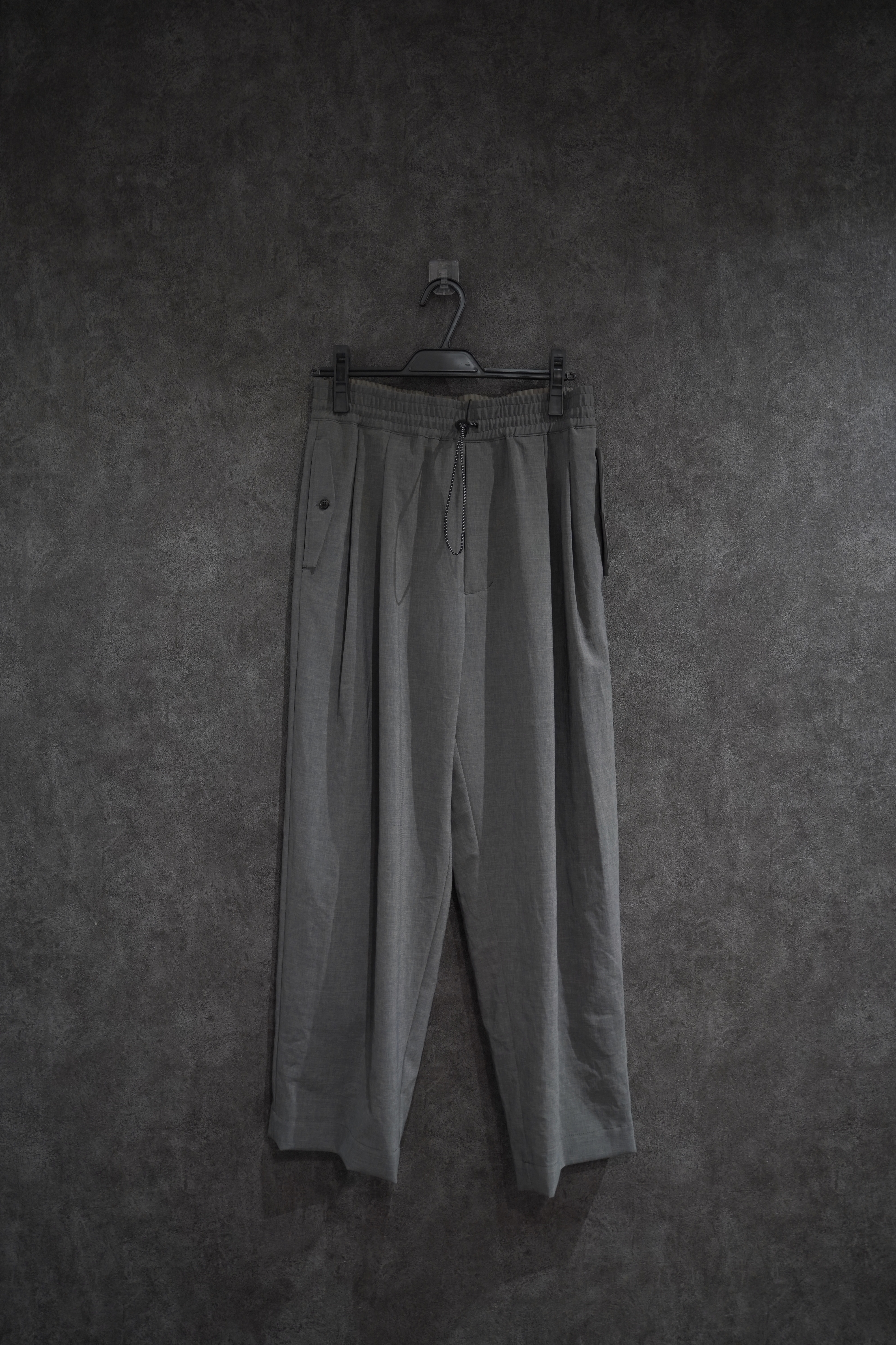 VOAAOV NATURAL WATER REPELLENT EASY PANTS gry