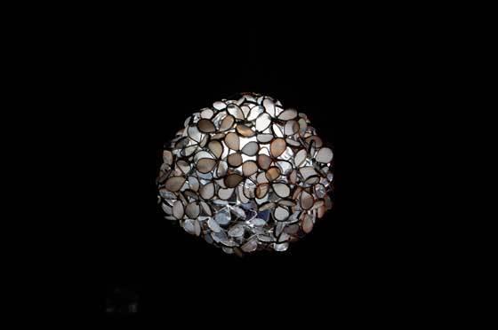 白花(ステンドグラスの吊りランプ)(ペンダントライト) 01010013