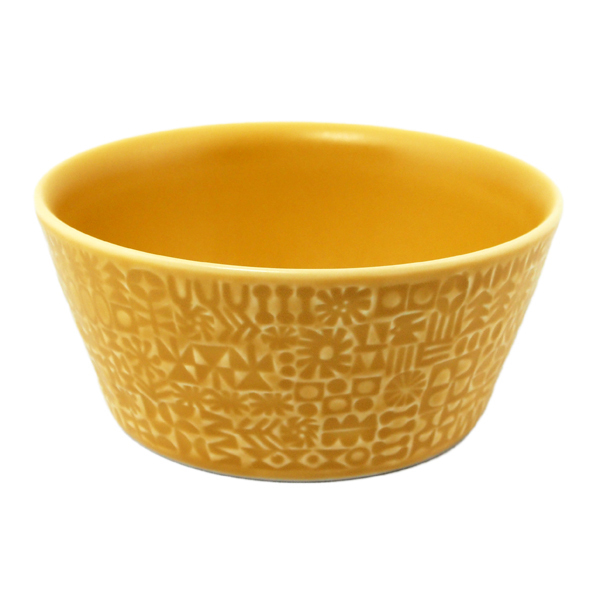 BIRDS' WORDS Patterned Bowl yellow