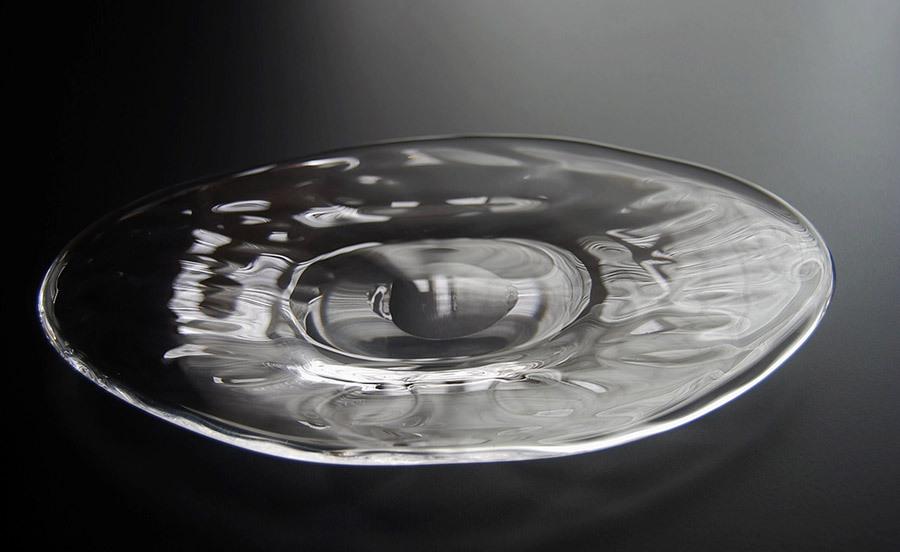 ガラス楕円皿 / カンベガラス(山形のガラス作家)