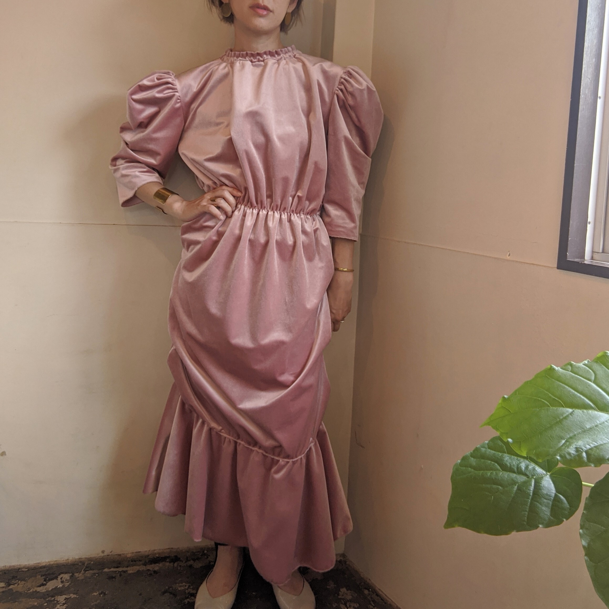 【 HOUGA 】ホウガ 2020AW blossom dress / pink / partydress /秋冬