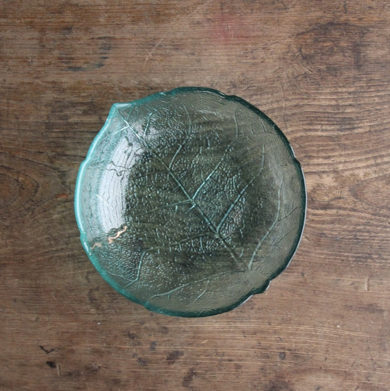 アルコロック リーフ柄のガラス小鉢 在庫5枚