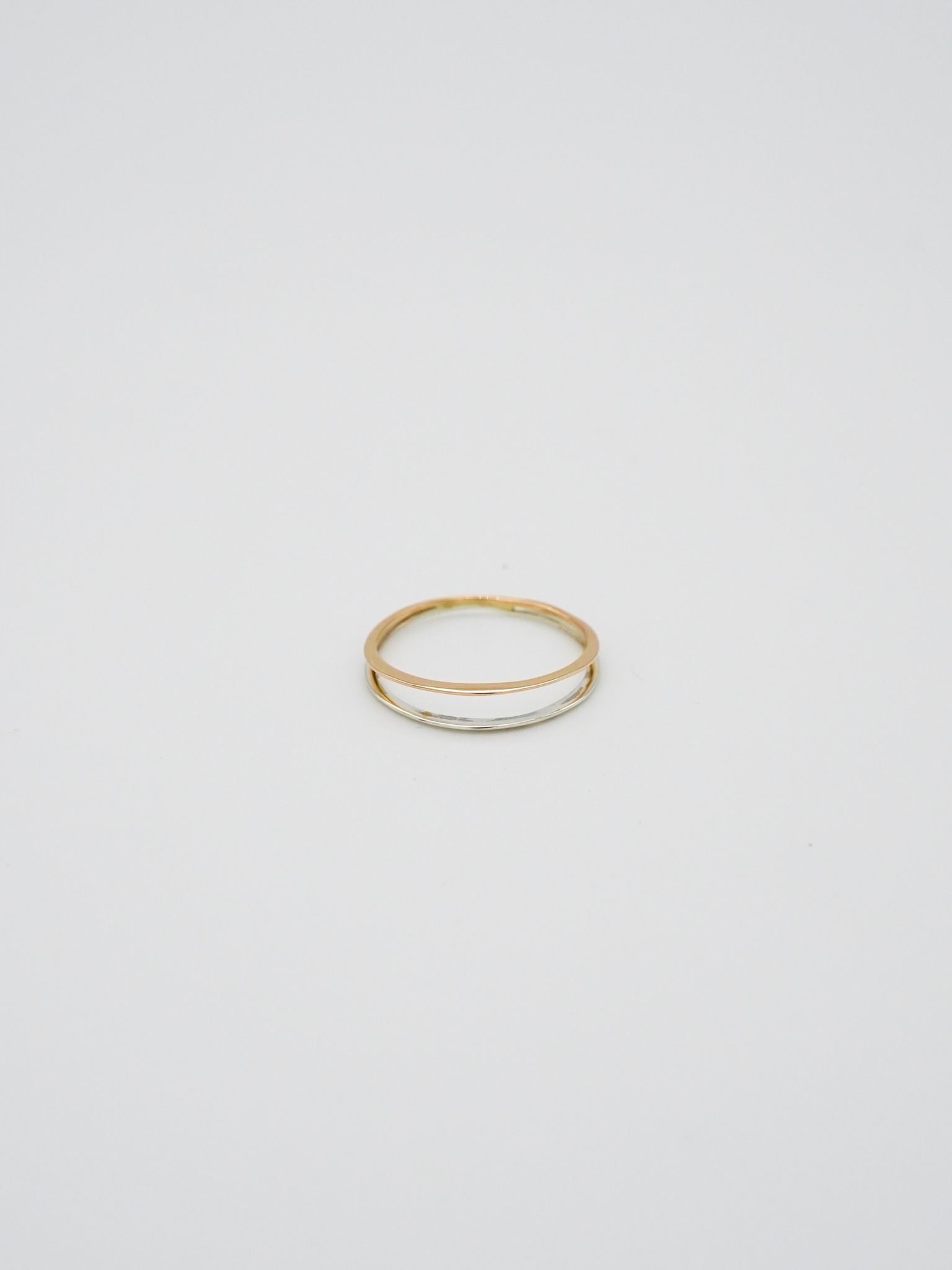 twin gold and silver ring ( K10 / silver )(再入荷)