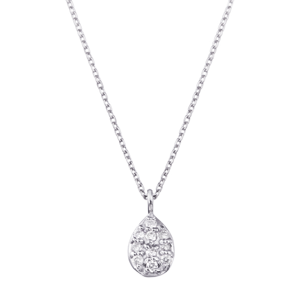 K18WGダイヤモンドネックレス 020201009411