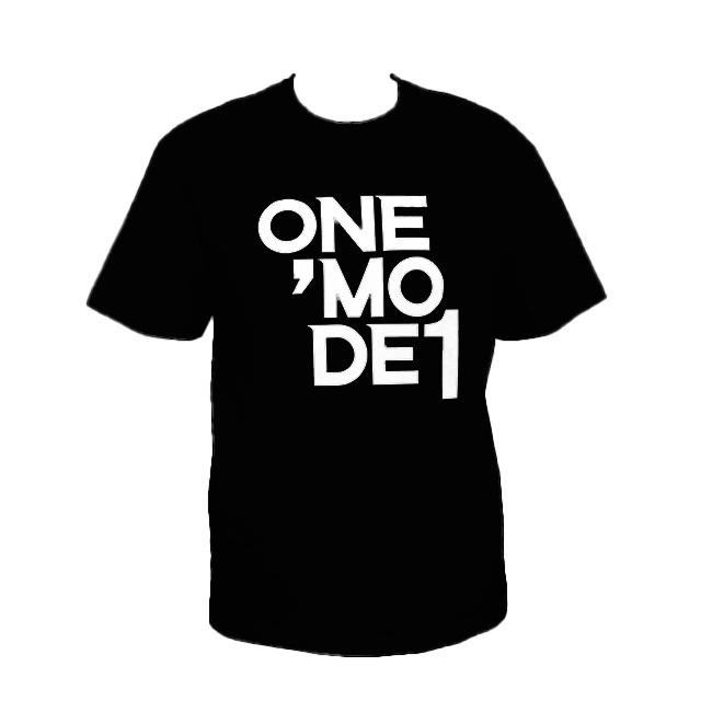 ONEMODE Tシャツ(プリント)BLACK