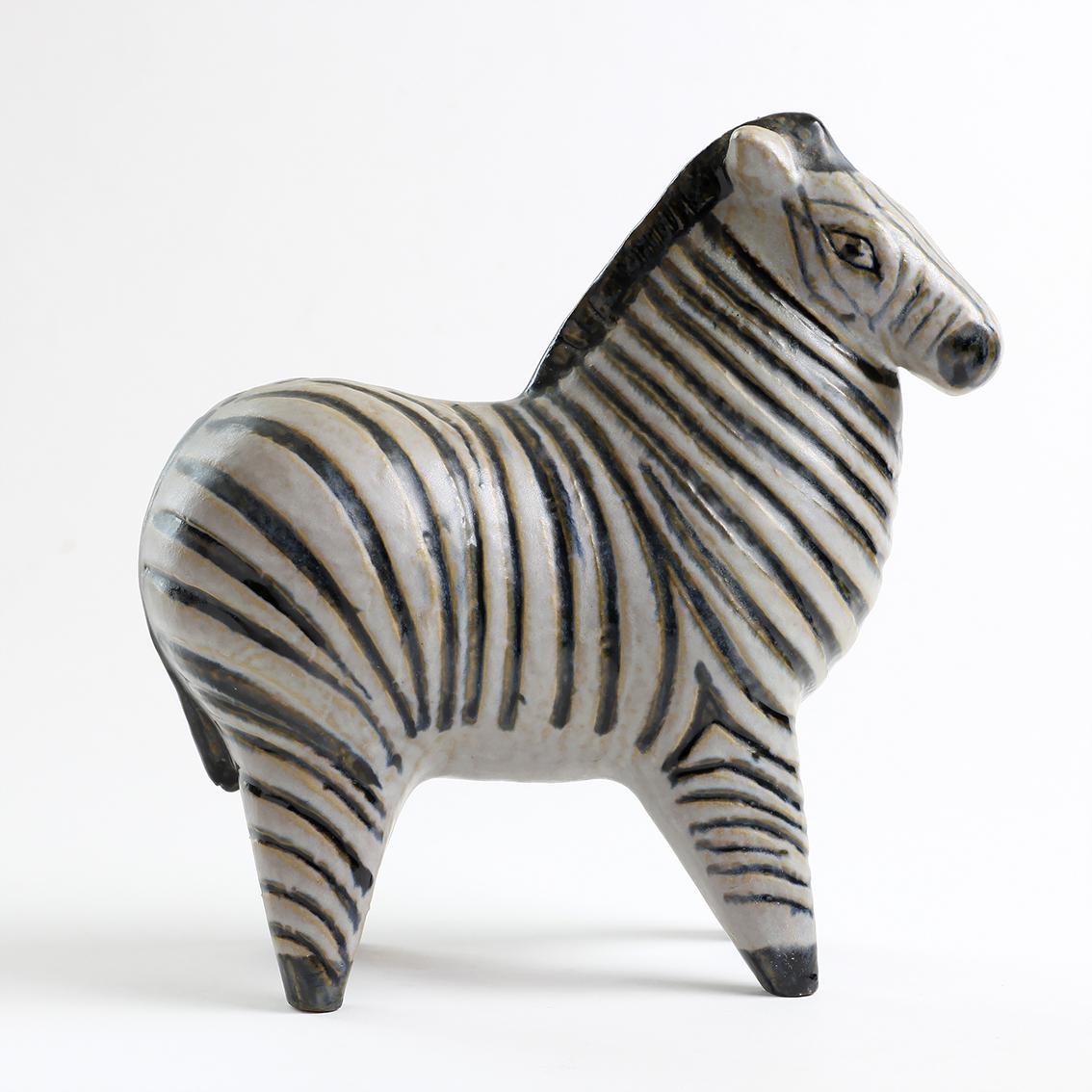 Gustavsberg グスタフスベリ Lisa Larson リサ ラーソン Stora Zoo 大きな動物園 Zebra シマウマ 北欧ヴィンテージ