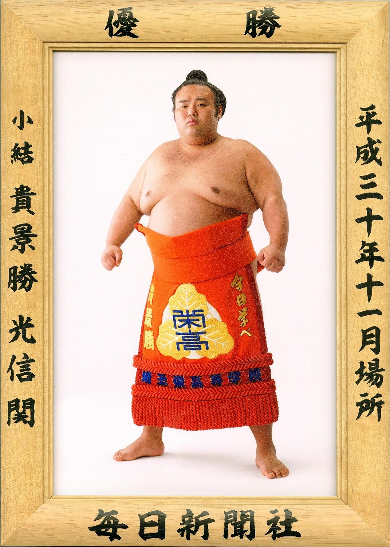大相撲優勝額 平成30年11月場所・貴景勝関