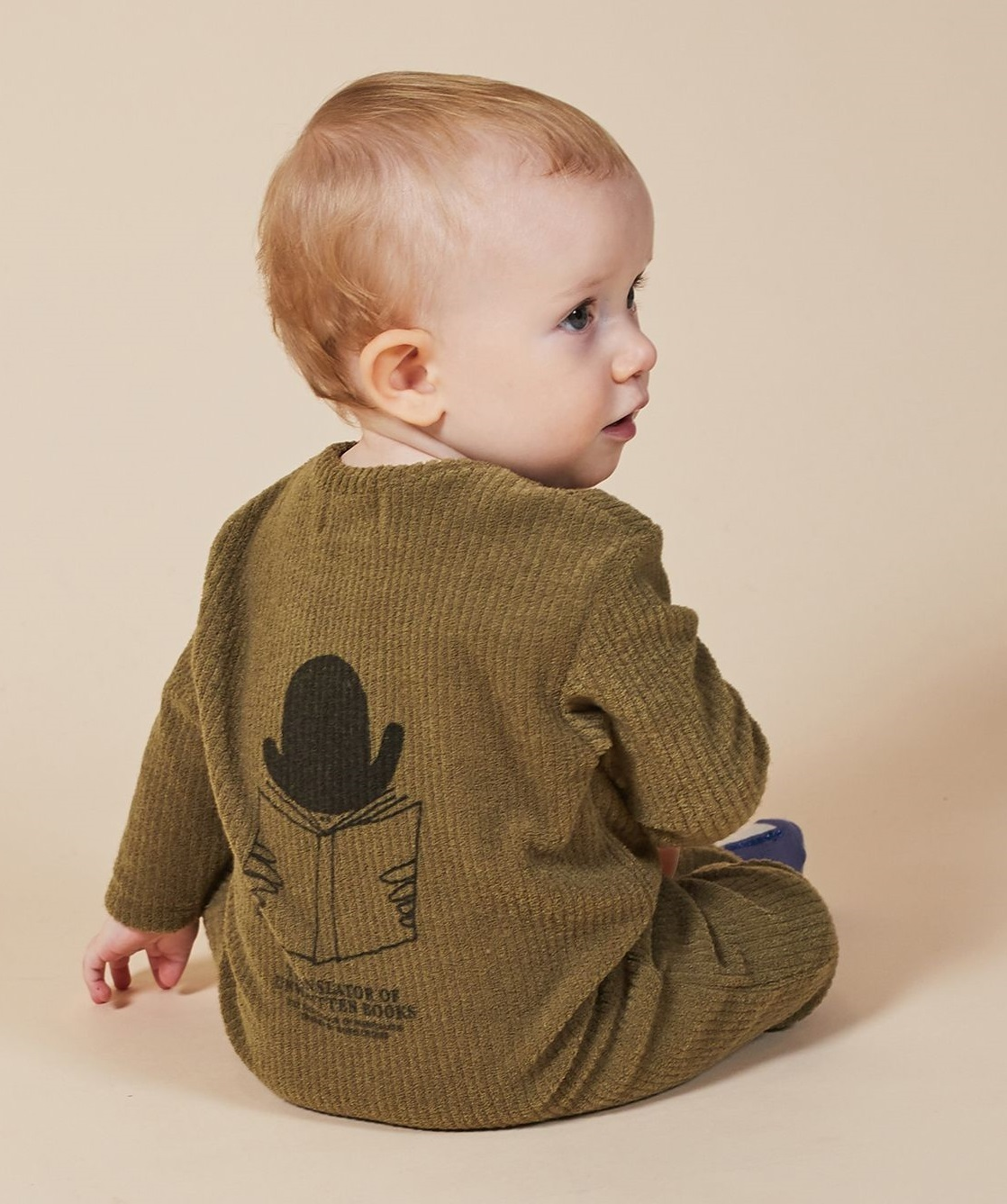 BOBO CHOSES ボボショセス Translator Terry Towel Overall size:6-12M(70-80)
