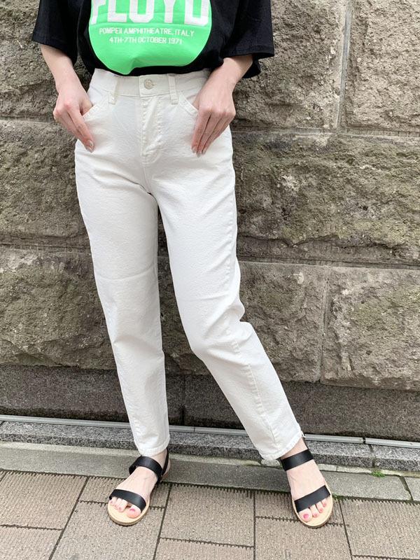 【インスタLIVE商品】カラーストレートデニム[Color:ホワイト]