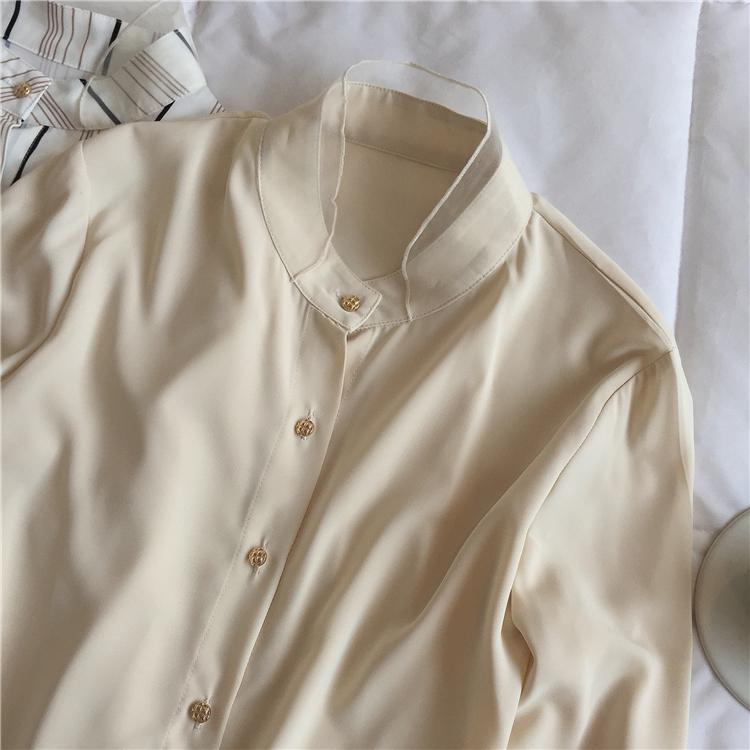 〈カフェシリーズ〉カフェに行きたくなるシフォンシャツ【cafe chiffon shirt】