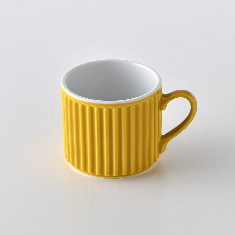 ギア マグカップ(小皿付)(イエロー)