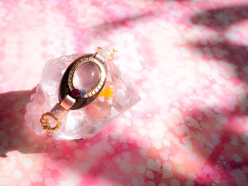 【花咲み】ローズクォーツ×ジリコテ/B179-1