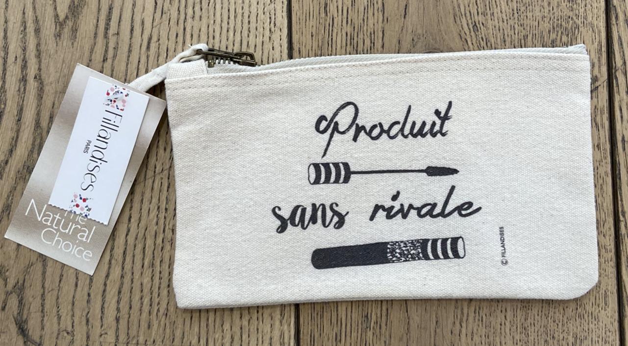 フランス小物 オーガニック・コットン100% ポーチ『PRODUIT SANS RIVALE』