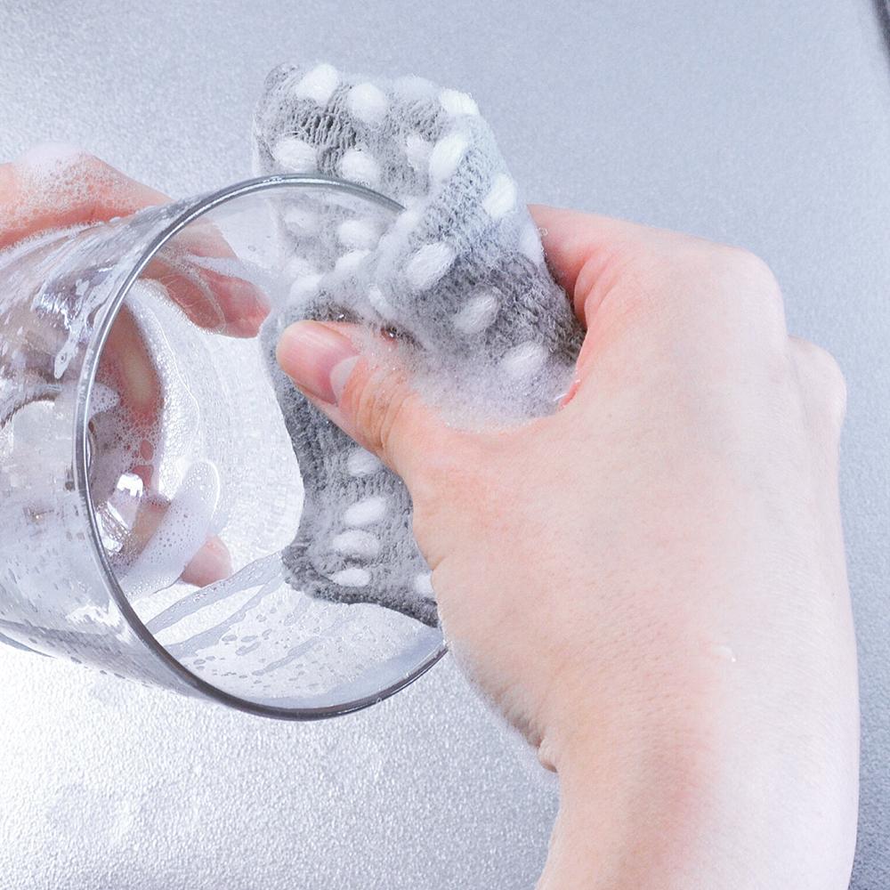 すみずみまで洗える速乾ポコポコスポンジ 2枚組 ¥550