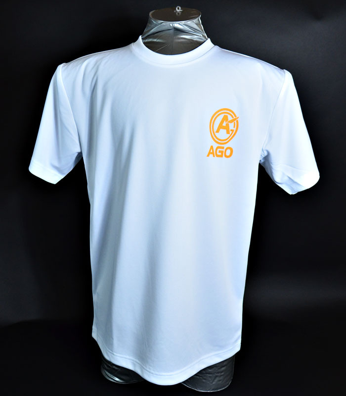 AGOロゴプリント オリジナルドライTシャツ white - 画像1