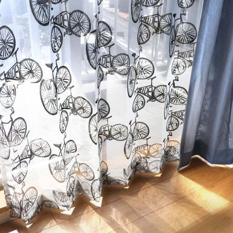 【最短6営業日で出荷】オパールレースカーテン「Carter カーター ブラック」 (幅×丈):100×133cm(2枚組) ac-0074