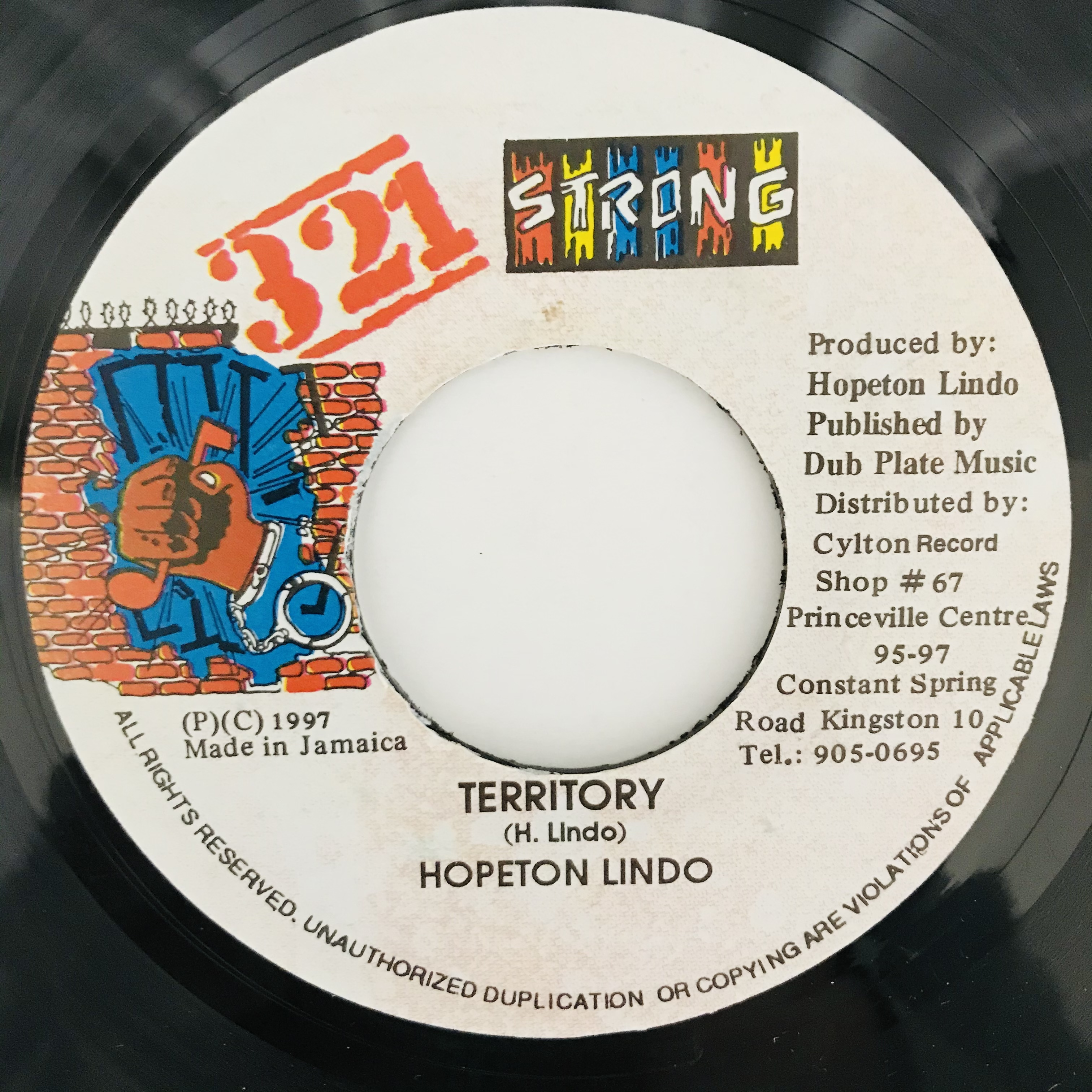 Hopeton Lindo - Territory【7-11027】