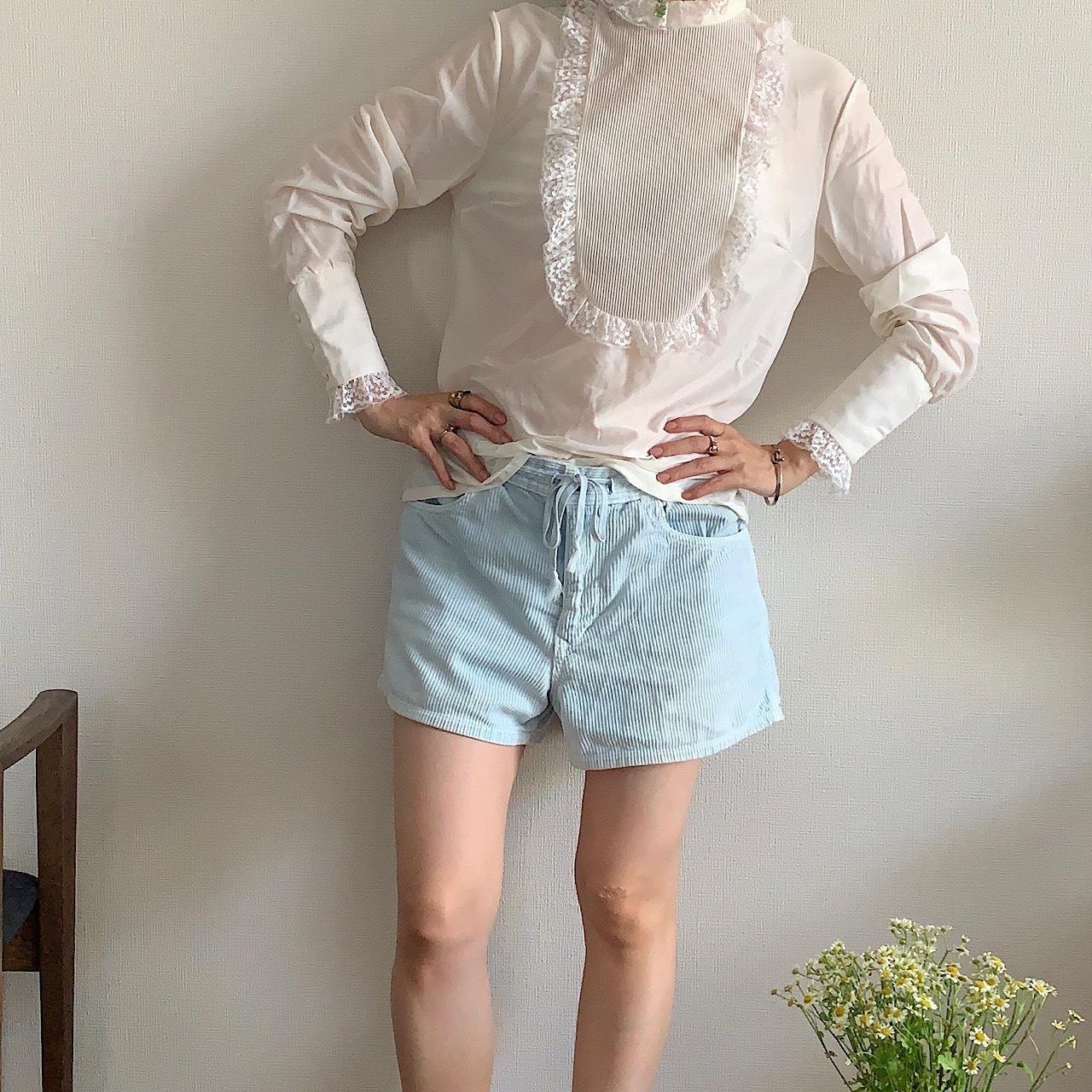 White  race frill blouse