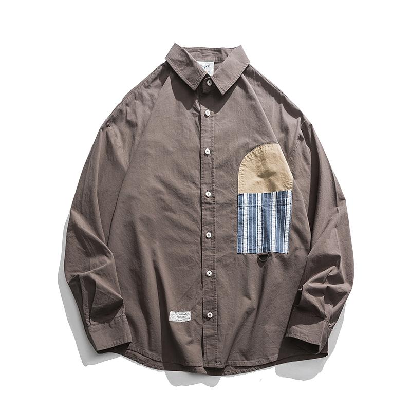 【UNISEX】アウトドア カジュアル カラーシャツ【2colors】