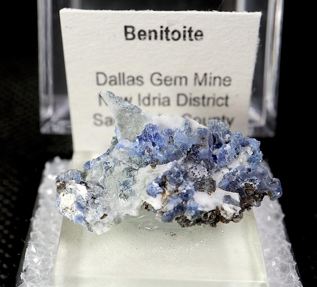 ベニトアイト   ベニト石  BN069 ケース入り 鉱物 天然石 パワーストーン