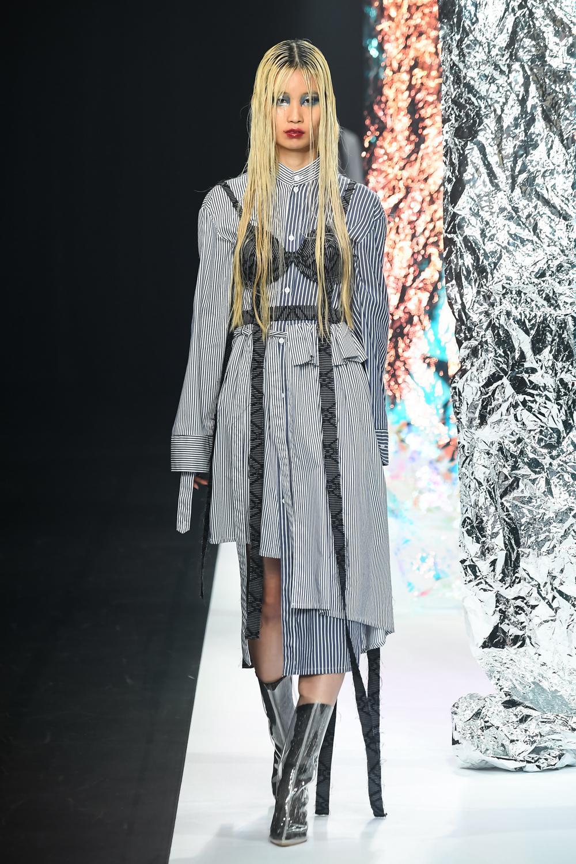 WAIST DESIGNED SHIRT DRESS