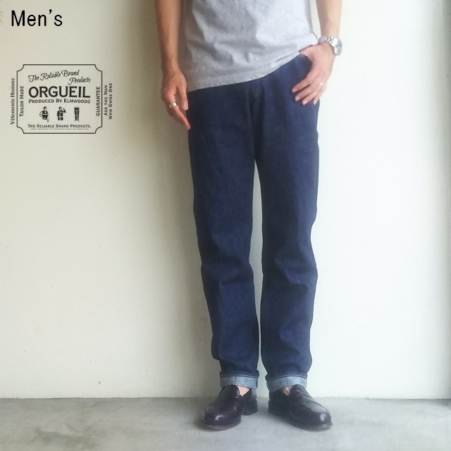 ORGUEIL スリムテーパードジーンズ Slim Tapered Jeans OR-1033 (ONE WASH)