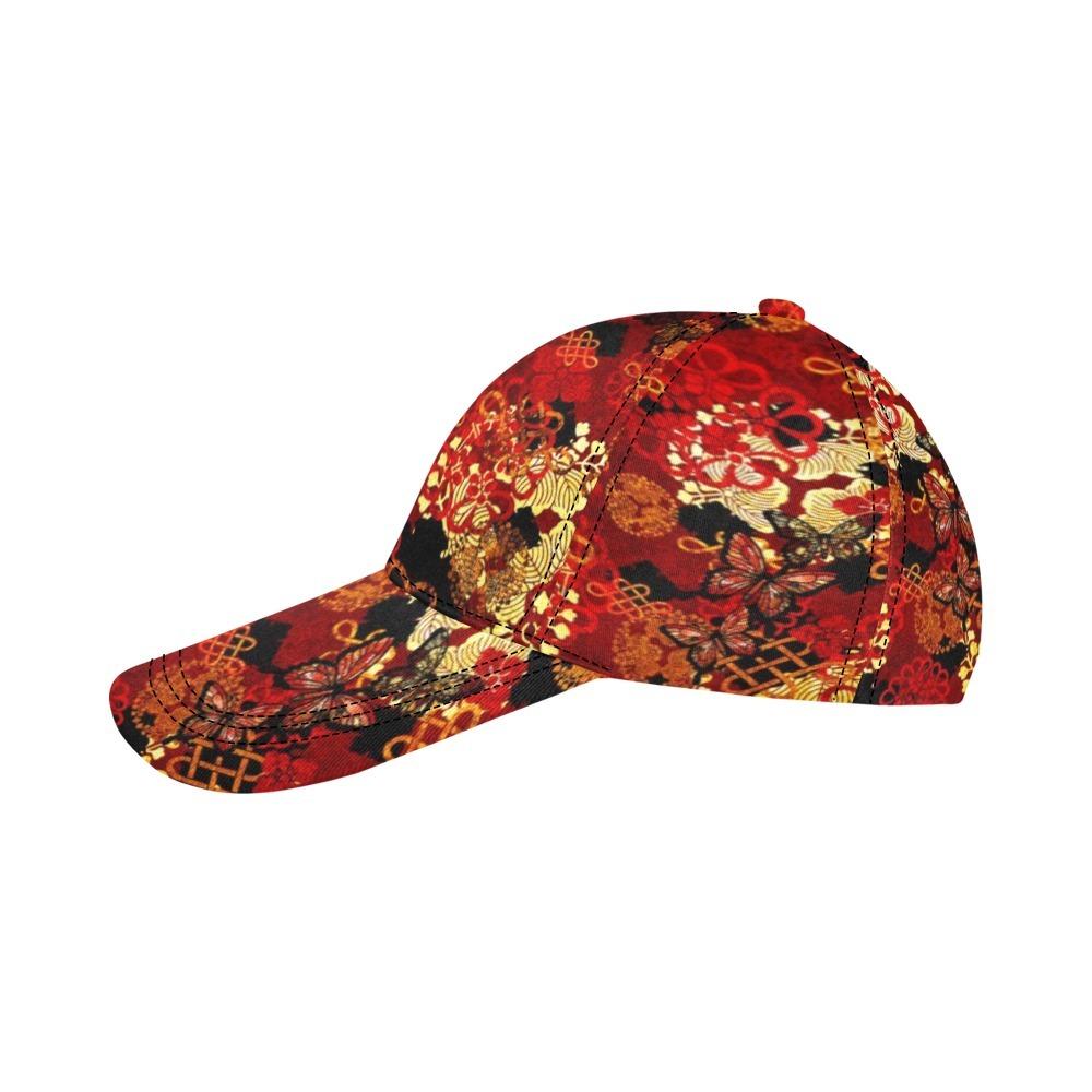 家紋装飾レッドブラック Baseball Cap・ベースボールキャップ