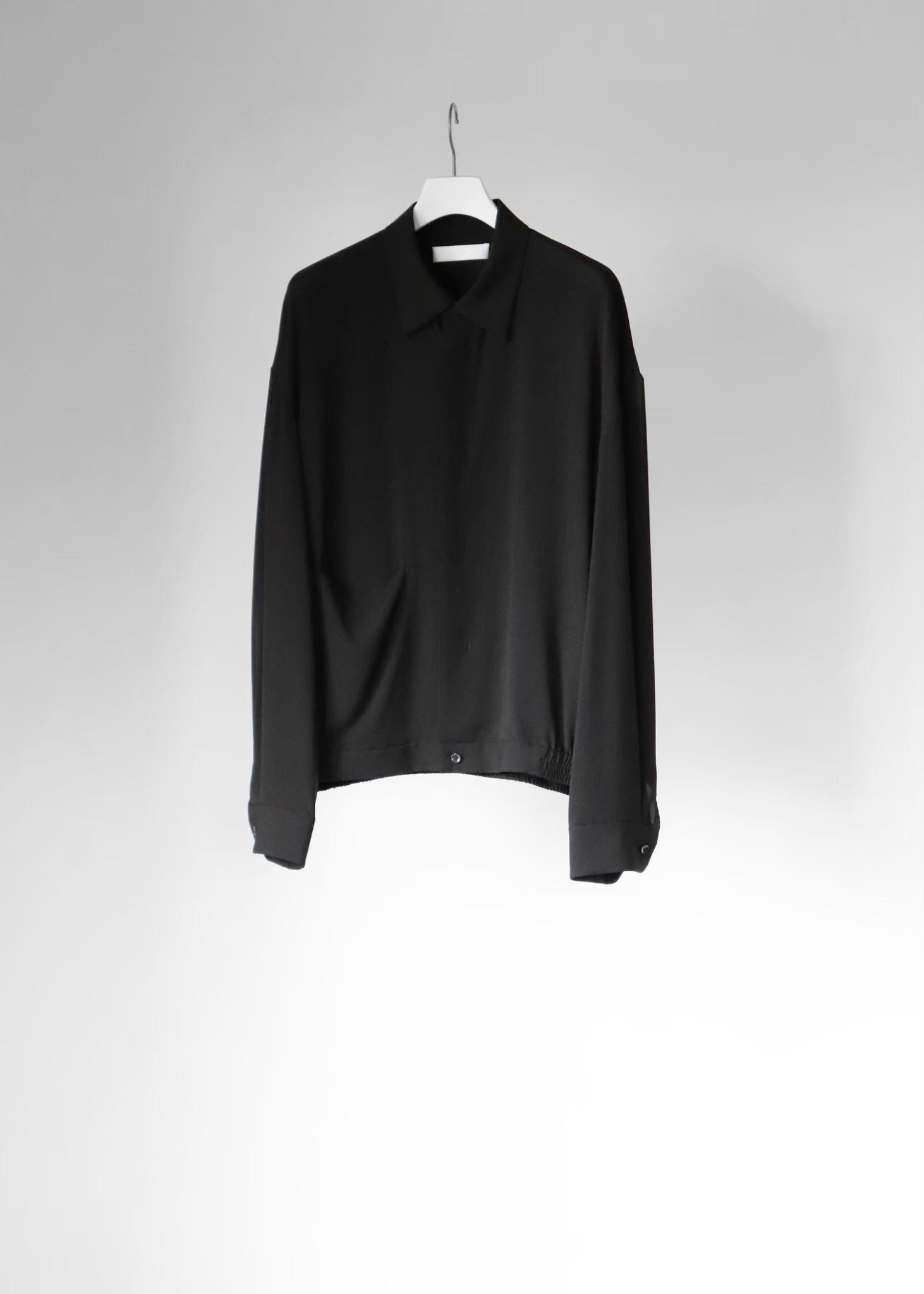 【ETHOSENS》《21SS》シルクシャーリングシャツ E121-201