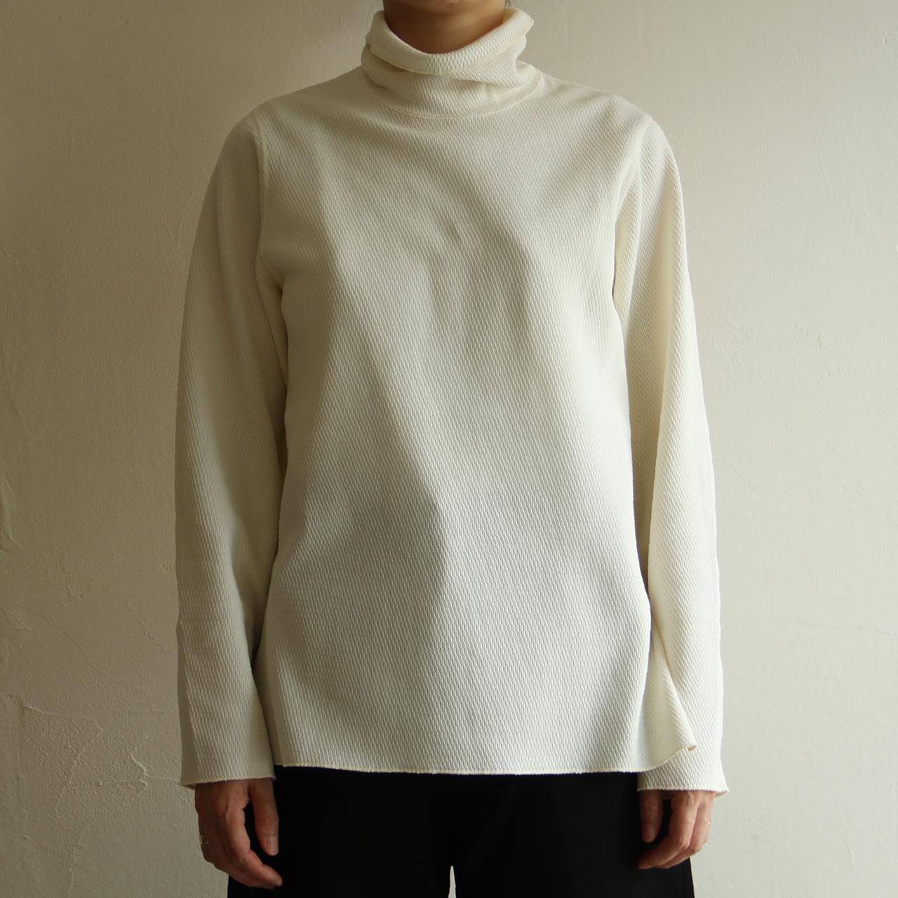 PHEENY【 womens 】hybrid honeycomb hi neck pullover