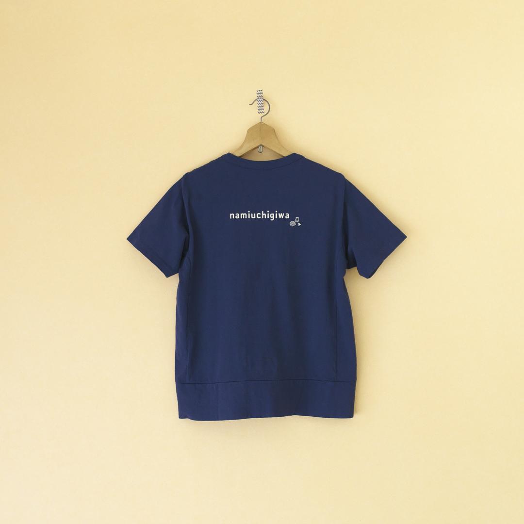 快晴堂 カイセイドウ 海上がりGirl'sTシャツ・ネイビー
