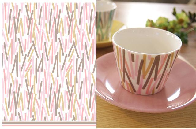 Sweet Home転写紙 ピンク系 A3サイズ(ポーセリンアート用転写紙 北欧)