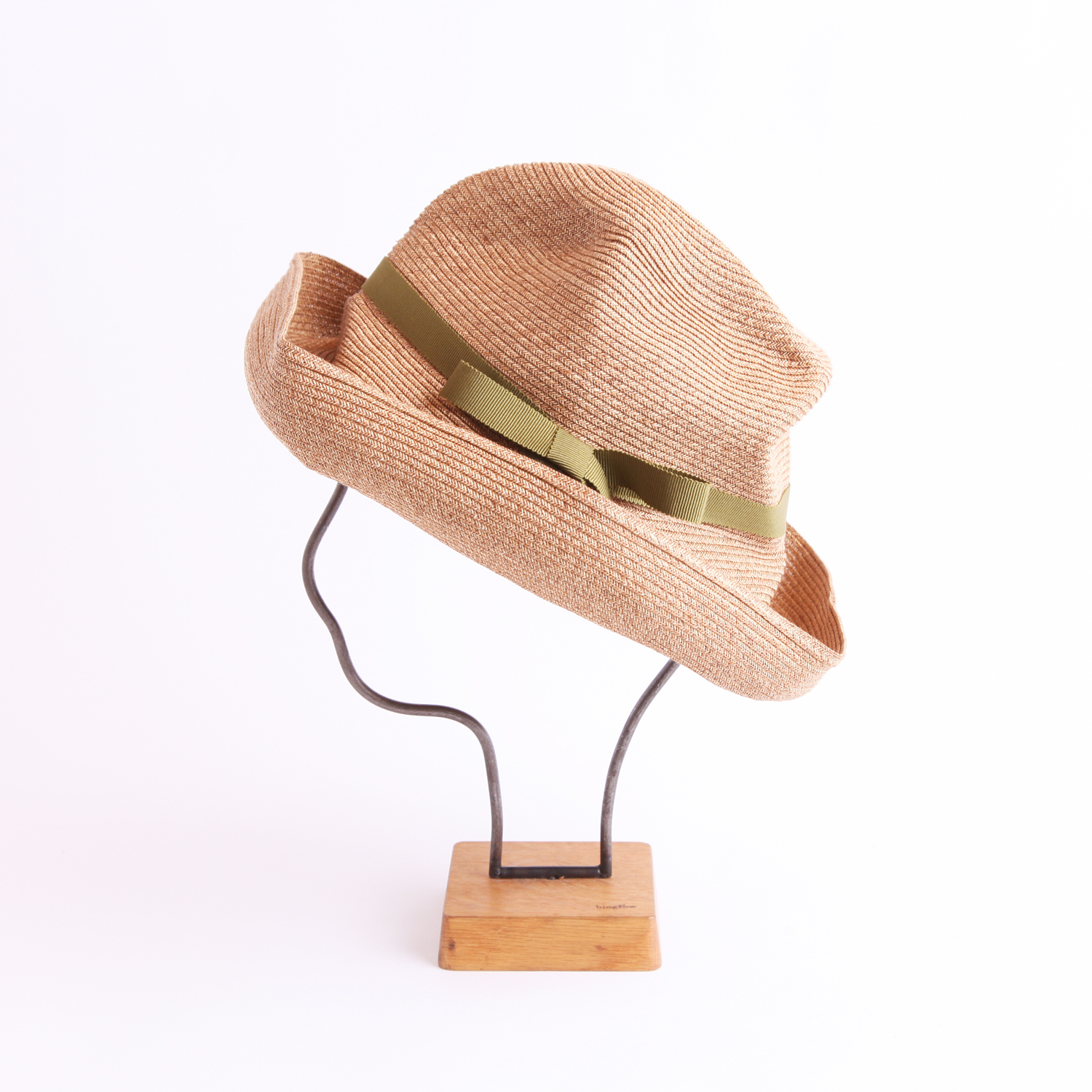 mature ha./BOXED HAT 101 mixbrown×olive