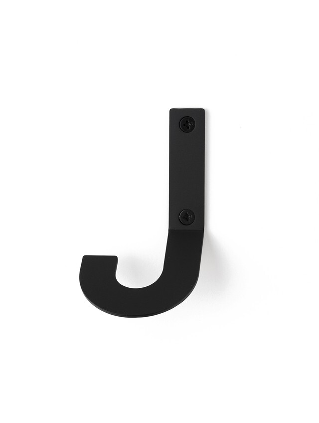 LETTER HOOK  J フック 壁掛け サイン 英文字 アルファベット