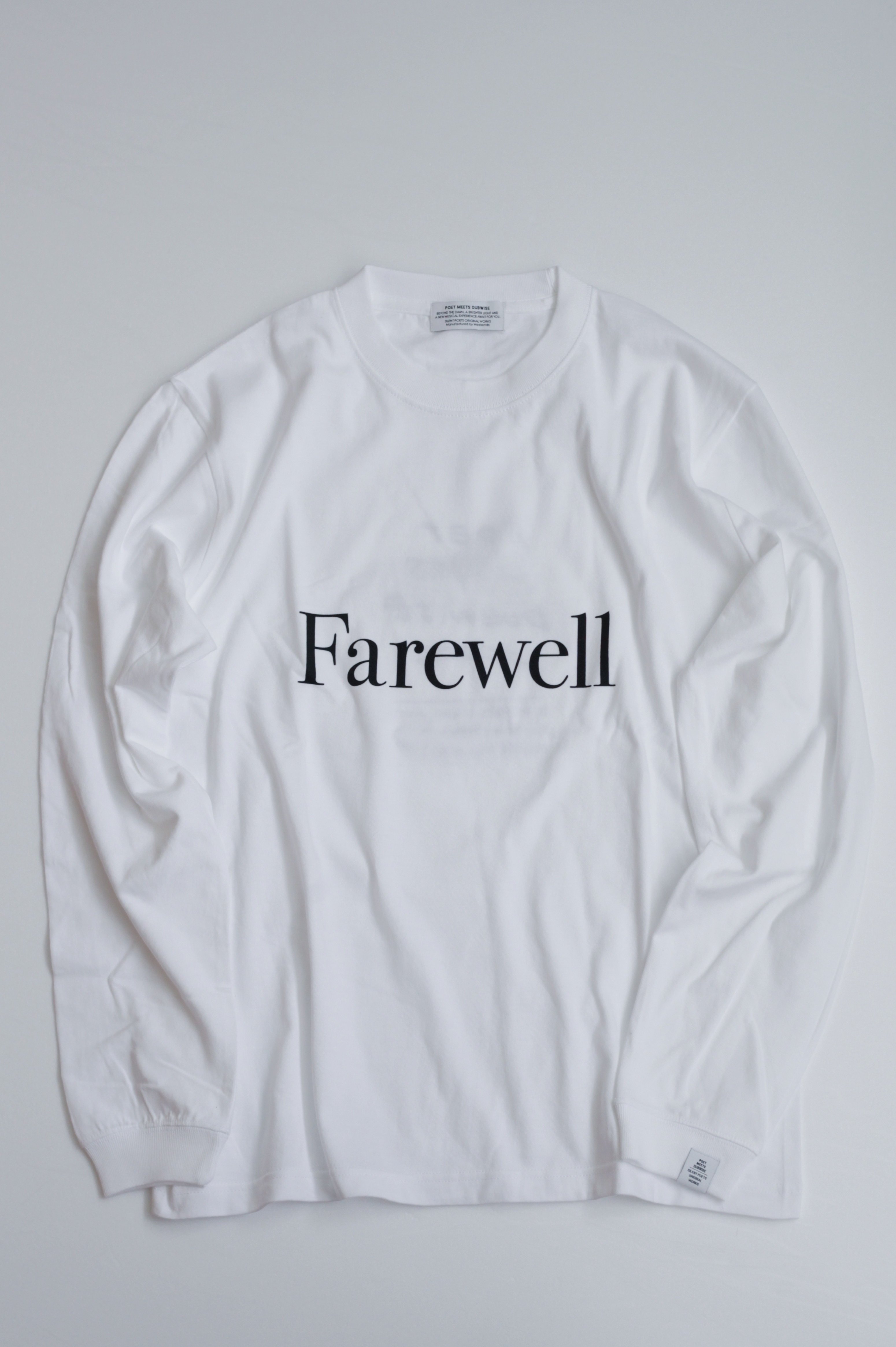 【POET MEETS DUBWISE(ポエトミーツダブワイズ)】 Farewell Long Sleeve T-Shirt