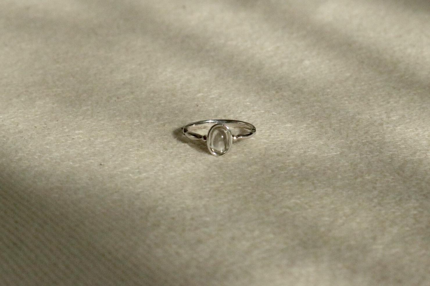 GAGAN crystal ring silver925