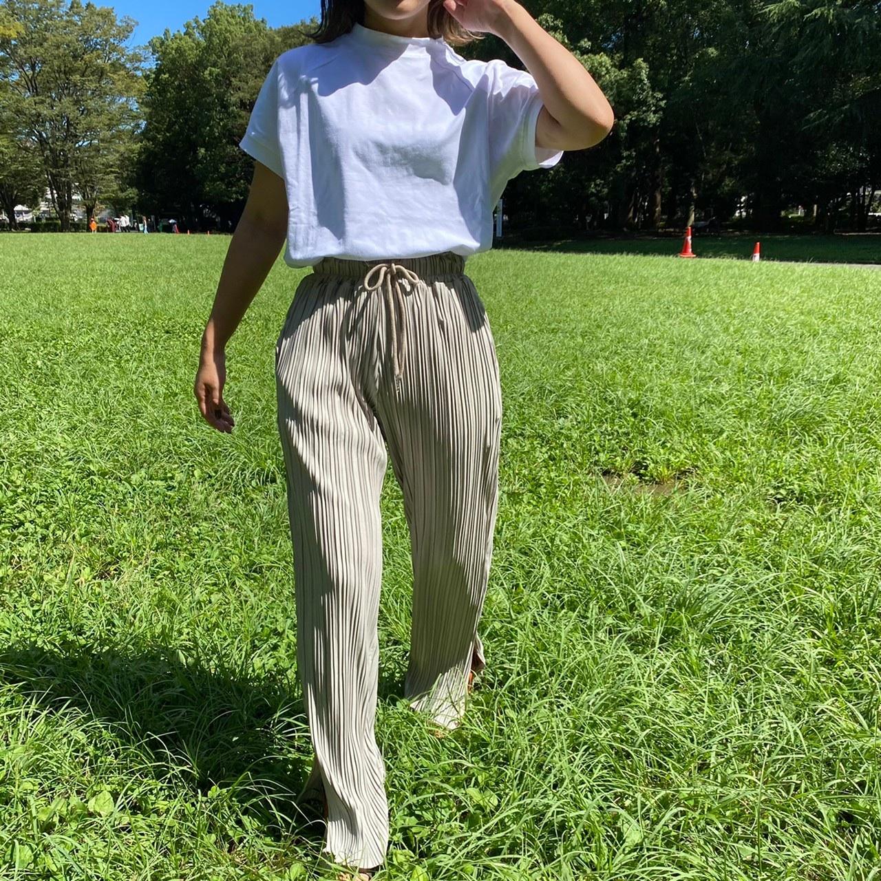 pleats side slit pants [2105-33]
