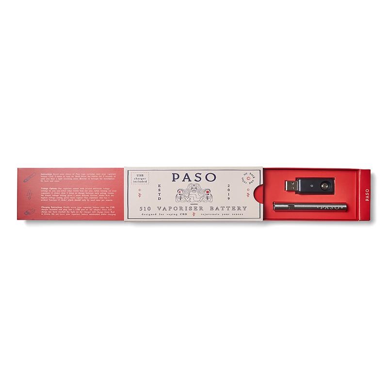 CBD VAPE PEN / PEN + BATTERY / SILVER  (PASO ORIGINAL)