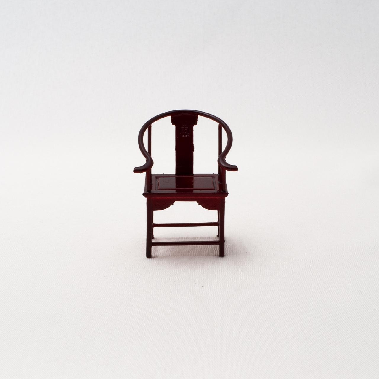中国風ミニチュア家具/アームチェア(樹脂製)