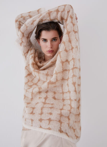 MOHAIR SWEATER WITH ASYMMETRIC DESIGN