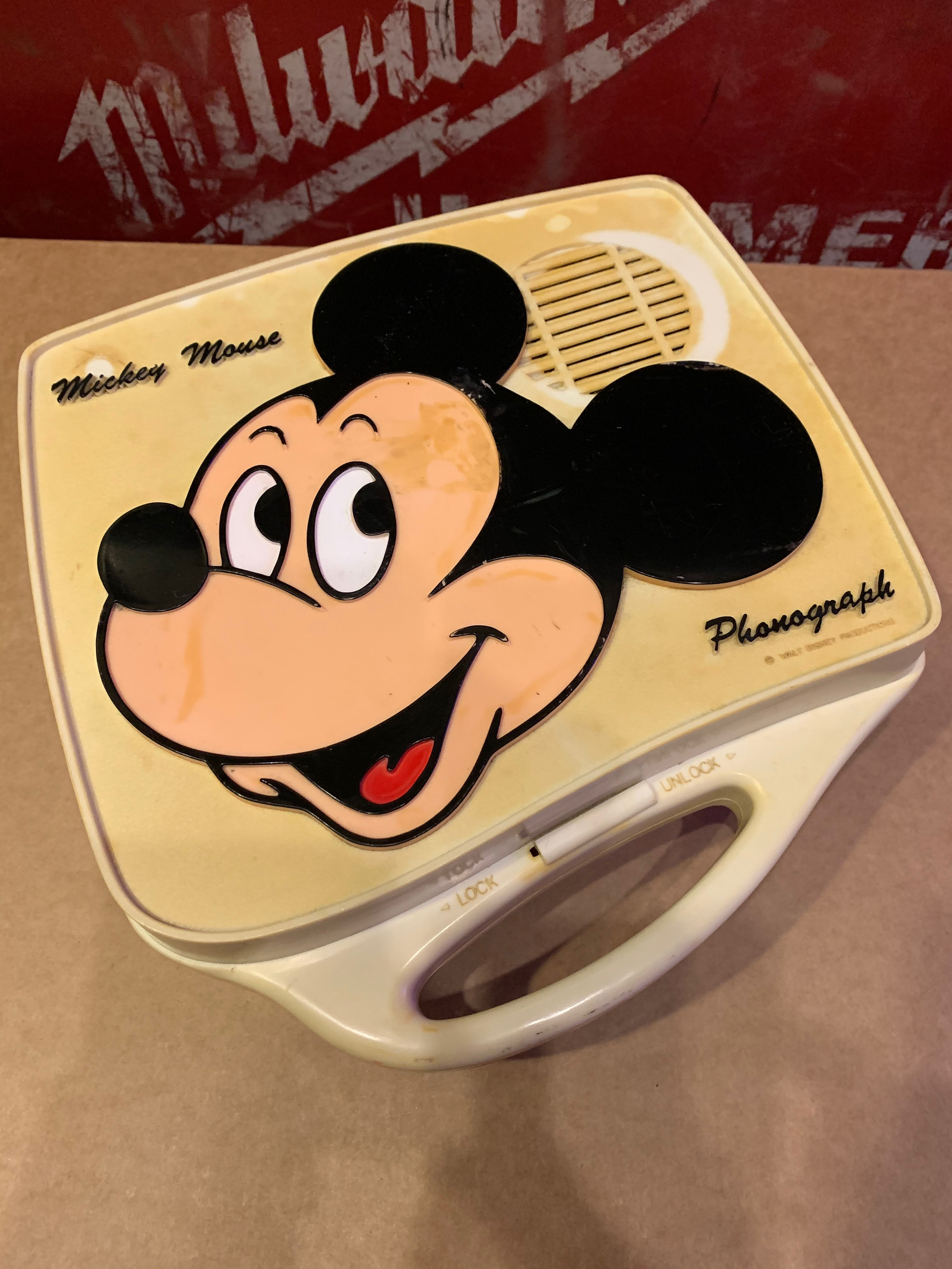 70's Mickey Mouse Phonograph by Walt Disney Productions   -junk-