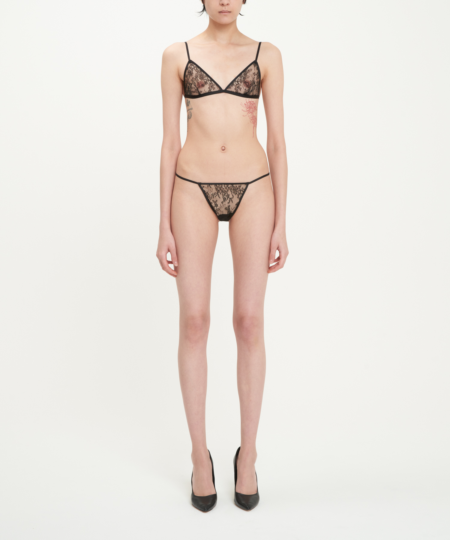 Black River Lace Bra And Thong