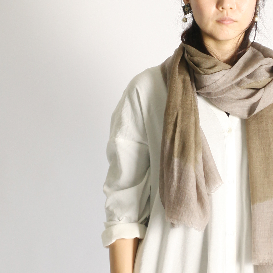 Hand Woven Baby Wool Sakaboushi Shibori Circle ベビーウール ショール #0265[ suzusan ]