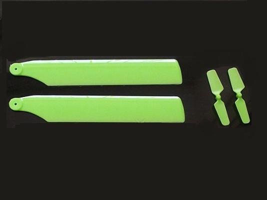 ★V977、K110、MiniCPメイン&テールブレード2枚 カラーはグリーン