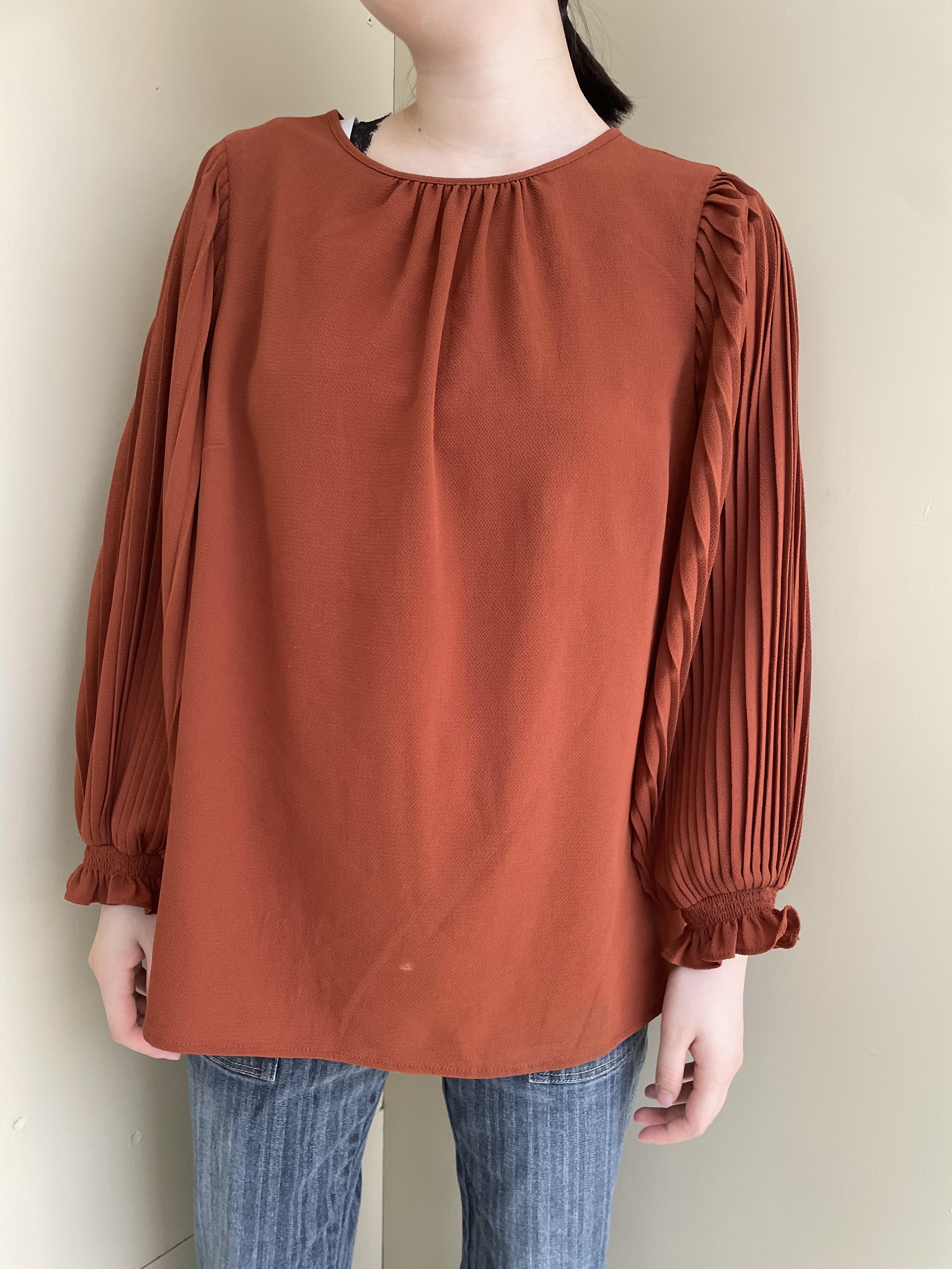 pleats blouse / 7SSTP19-06