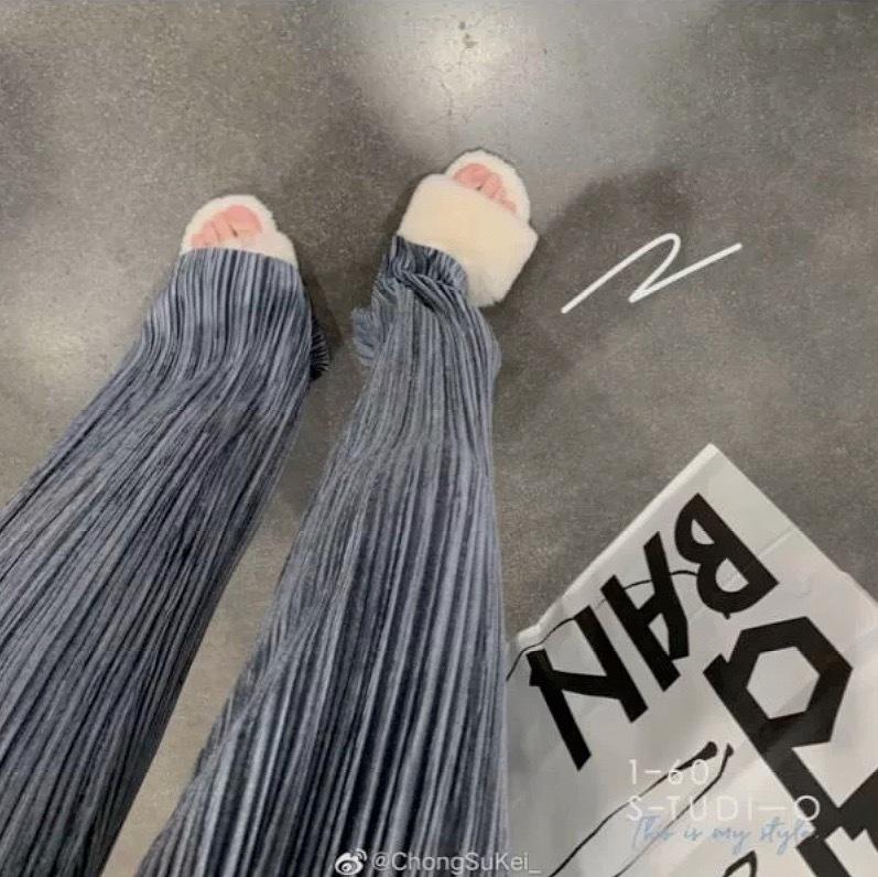 velvet wide pants 3color