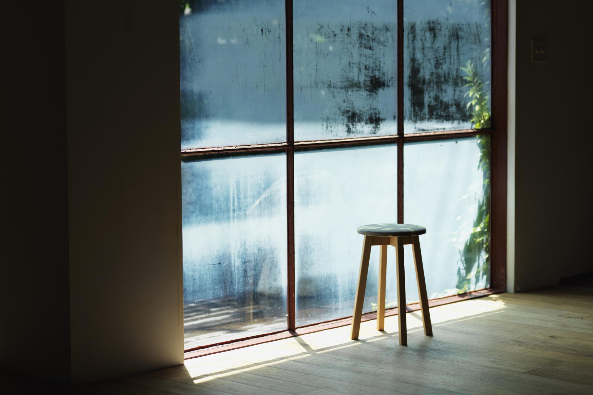 〈46/D. × SUGIKOJO〉CIRCLE FABRIC STOOL