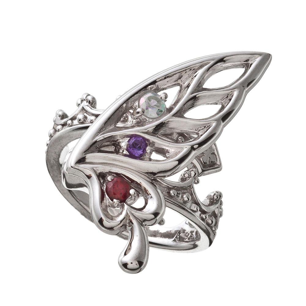 バタフライクラウンリング シルバーリング AKR0040  Butterfly crown ring silver ring