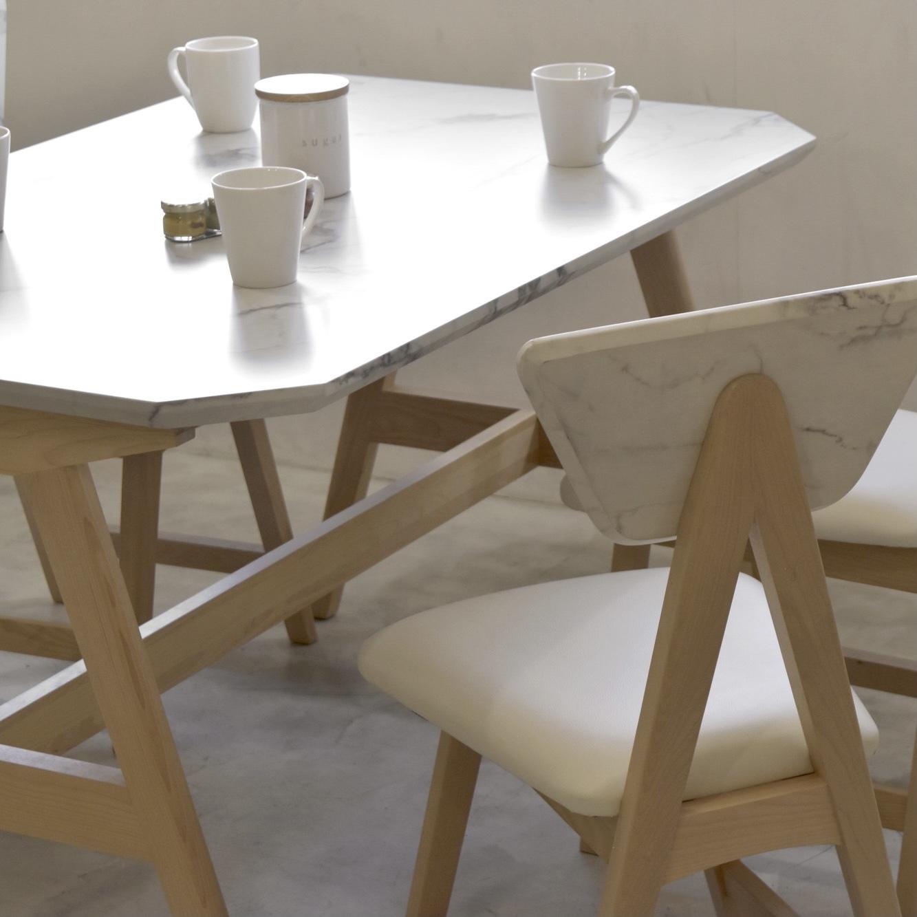 Marble Dining Table 1210 / 大理石調 スクエアダイニングテーブル